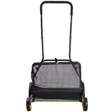 Super-buy-20-Lawn-Mower-Classic-Hand-Push-Reel-W-Grass-Catcher-6-Adjustable-Height-0
