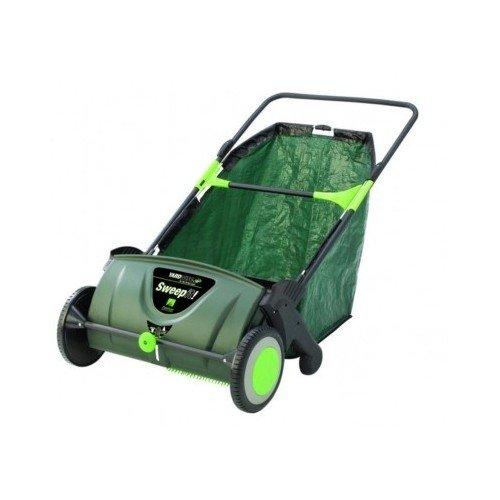 Yardwise Push Lawn Sweeper Sweep It Cut Grass Brush and ...